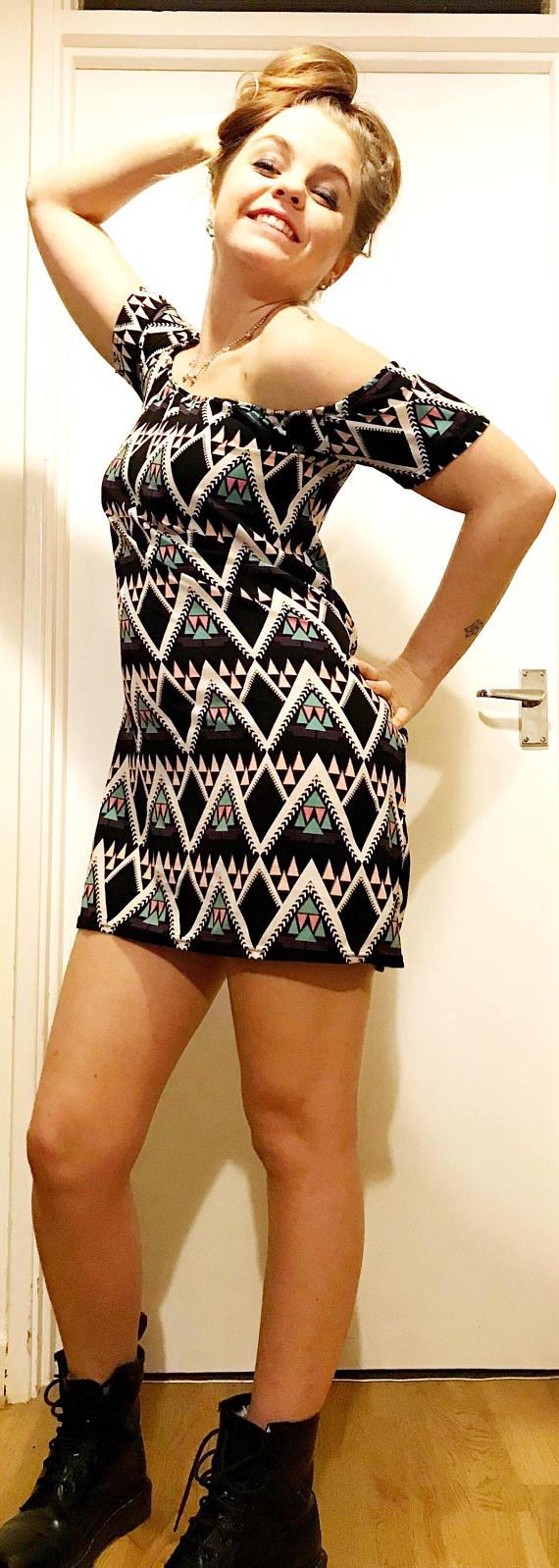 Aztek Print Dress - My Fashion Faux Pas