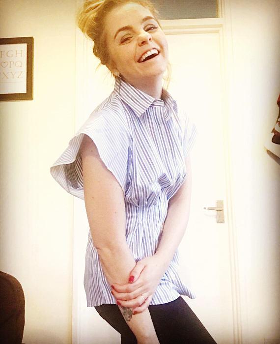 blue & white striped shirt - My Fashion Faux Pas