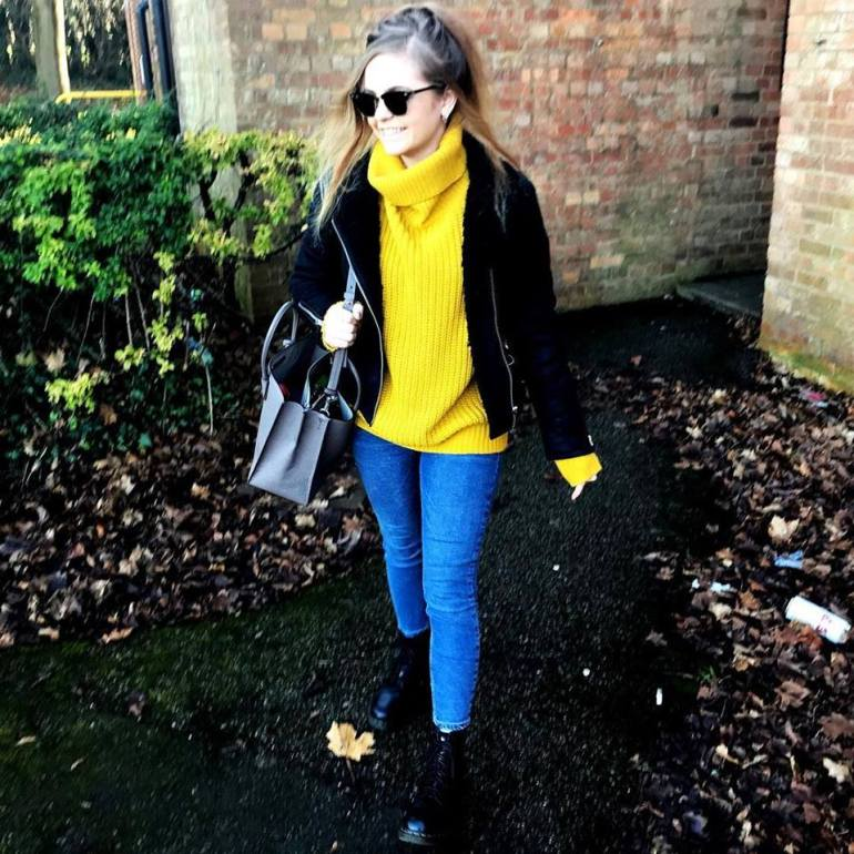 Mustard Yellow Jumper Outfit